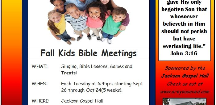 Fall Kids Bible Meetings